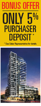 Bonus Offer - Only 5% Purchaser Deposit